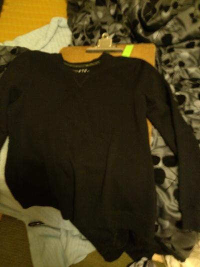 How to cut-up a top. Hello Kitty Bow Cut Out Sweatshirt - Step 2