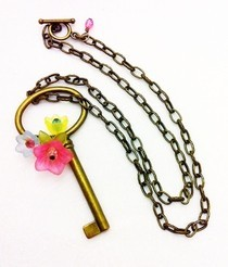 Brass Key Necklaces