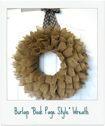 Burlap Bookpage Wreath