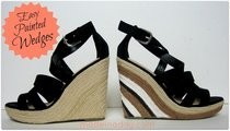 Painted Wedge Sandals
