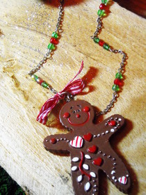 Gingerbread Men Necklaces!