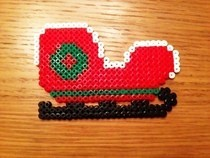 Hama Bead Christmas Sleigh