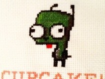 Gir Cupcake Cross Stitch
