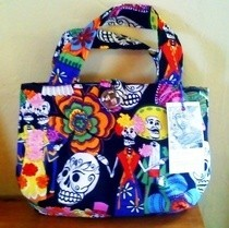Day Of The Dead Fabric Tote