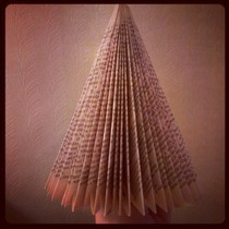 Recycled Book Paper Christmas Tree