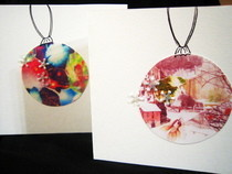 Digital Bauble Christmas Cards