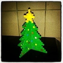 3 D Hama Bead Christmas Tree