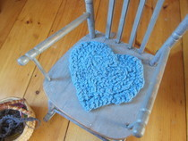 Finger Knitted Chair Cushion