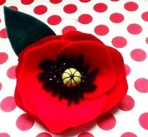 Pretty Poppy Brooch
