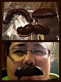 Chocolate Mustaches