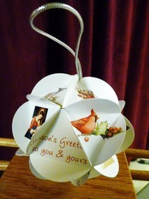 Ornament From Recyled Christmas Cards