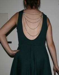 Low Back Dress With Chains