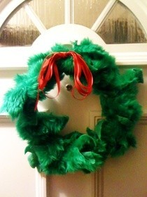 Christmas Wreath Made From An Embrodary Hoop
