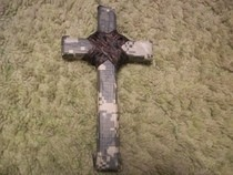 Camoflage Duct Tape And Ribbon Cross