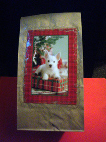 Recycled Christmas Card Gift Bag
