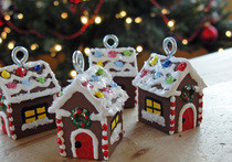 Miniature Gingerbread House Ornaments