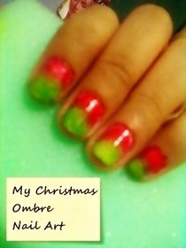 My Christmas Ombre Nails