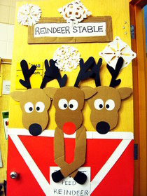 Reindeer Door