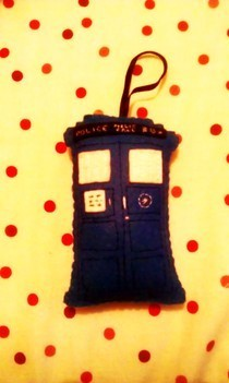 Tardis Felt Tree Decoration