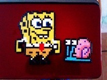 Hama Bead Spongebob And Gary