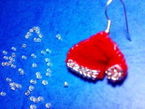 Christmas Earring (Santa's Hat) 