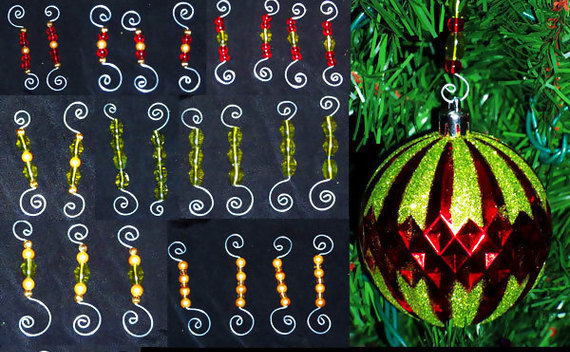 Beaded Ornament Hooks