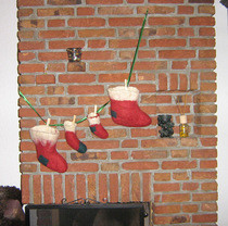 Wet Felted Christmas Stockings