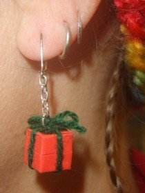 Christmas Present Earring