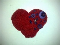 Woollen Heart Broach &lt;3