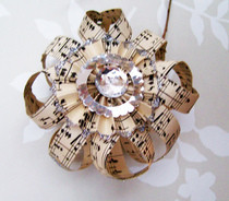 Sheet Music Ornament
