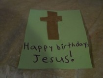 Birthday Card For Jesus