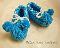 Loom Knit Baby Booties / Socks / Shoes