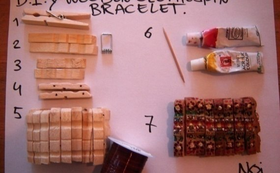 Diy Wooden Clothespin Bracelet