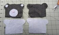 How to make a coin purse. Bear Coin Purse - Step 1