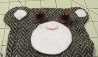 How to make a coin purse. Bear Coin Purse - Step 2