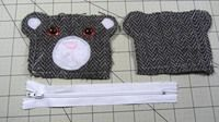 How to make a coin purse. Bear Coin Purse - Step 8