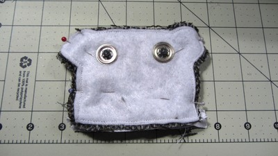 How to sew a fabric animal pouch. Bear Coin Purse - Step 13