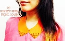 Diy: Leather Studded Collar (Detachable)