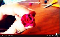 Made A Rose With Fimo