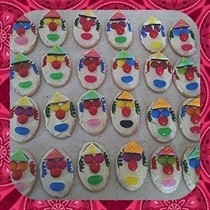 Clown Face Biscuits