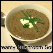 Creamy Low Fat Mushroom Soup
