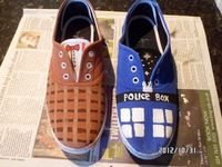 How to make a pair of plimsolls. Doctor Who Shoes - Step 7