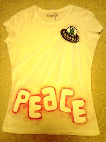Fabric Paint T Shirt :3
