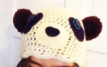 Happy Holidays Panda Hat