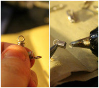 How to make a pair of toy earrings. Whisk Earrings - Step 3
