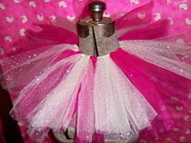 Childrens White And Pink Sparkle Tutu