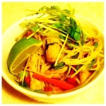 Low Fat Pork Noodle Stir Fry