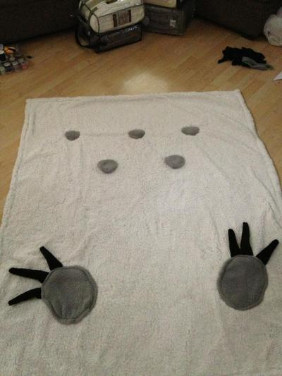 How to make a bed. Totoro Bed - Step 5