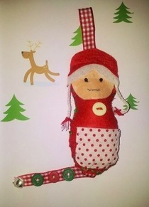Christmas Granny Dotee Doll