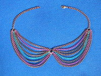How to make a chain collar necklace. Collar Necklace - Step 7